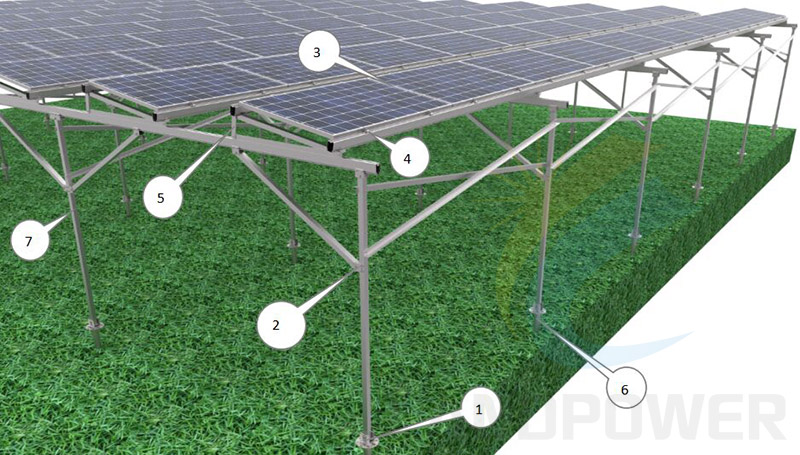 Agriculture pv structure