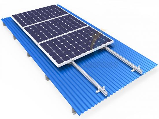 corrugated solar mounting